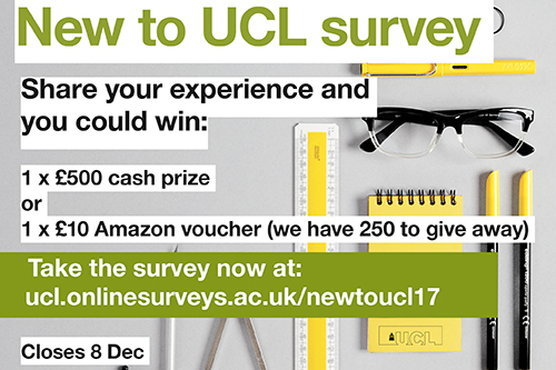New to UCL? Tell us about your experience and you could win £500