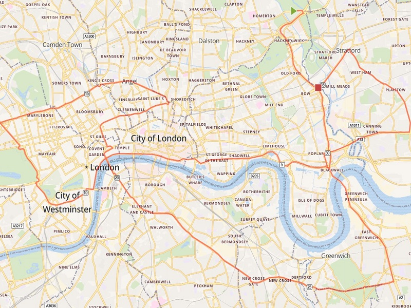 Map Central London Uk.Central London S Most Polluted Spots Revealed Ucl News Ucl