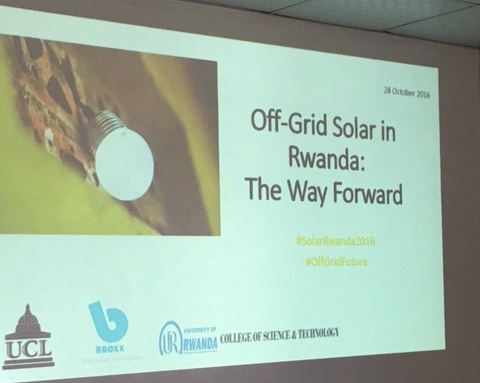 UCL graduate student reports on the role of Off-Grid Solar in making electricity widely available in Rwanda