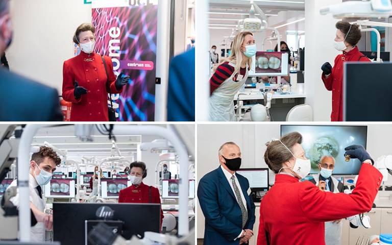 HRH The Princess Royal on visit to the new UCL Eastman Dental Institute
