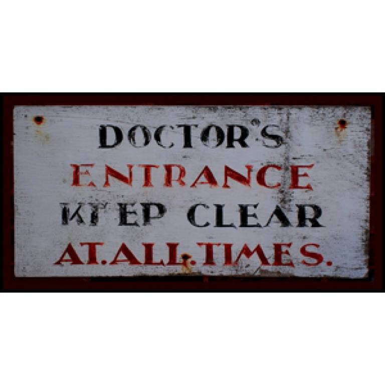 Doctors sign from Victoria Reay on Flickr (square)