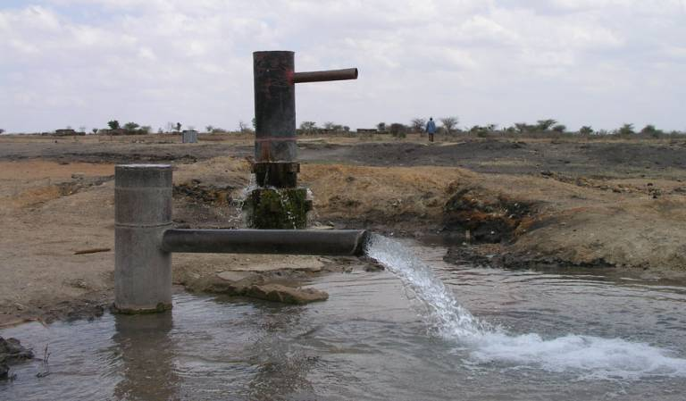 Artesian well in central semi-arid Tanzania