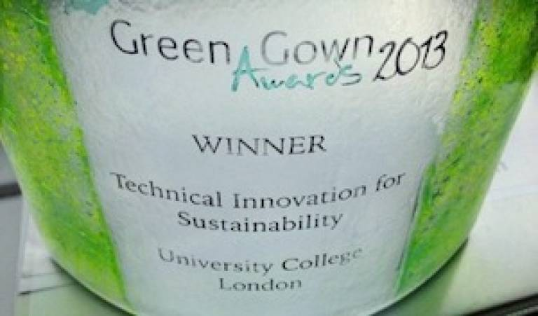 Green Gown Award trophy