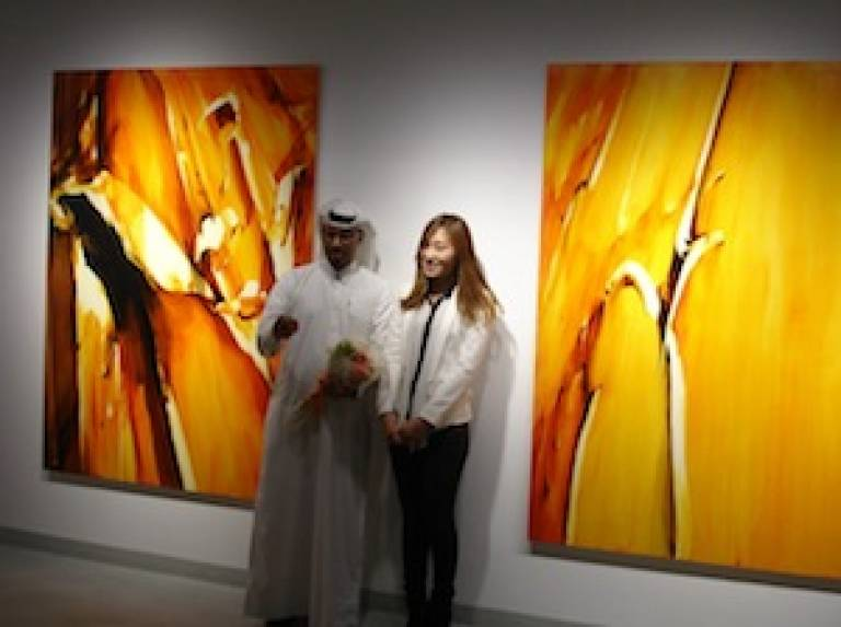 Hannah Shin and her paintings with Ali Al-Mullah