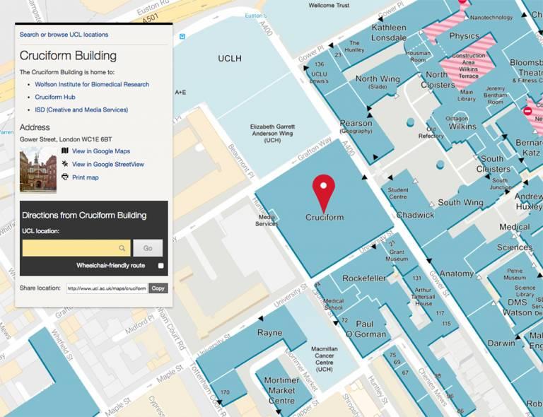 Maps website screen shot