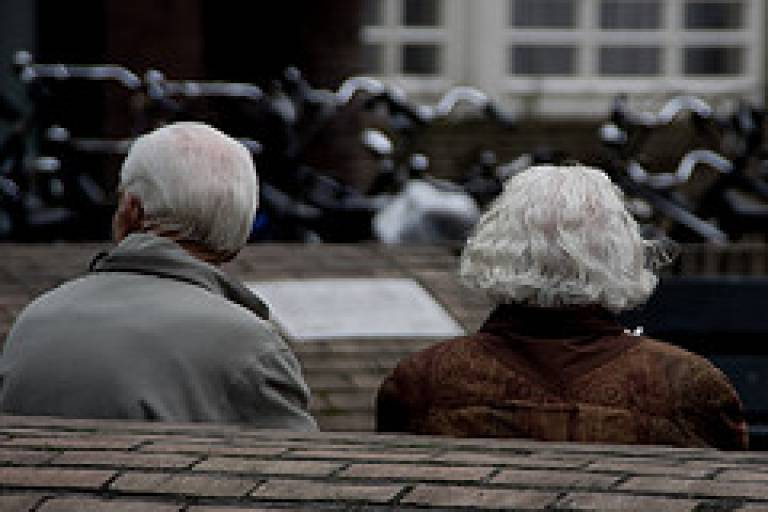 Old couple by Marcel Oosterwijk