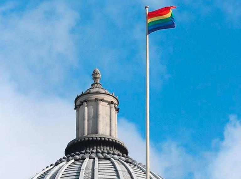 Portico LGBT flag