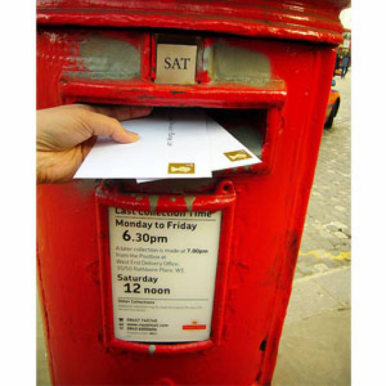 Postbox and letters
