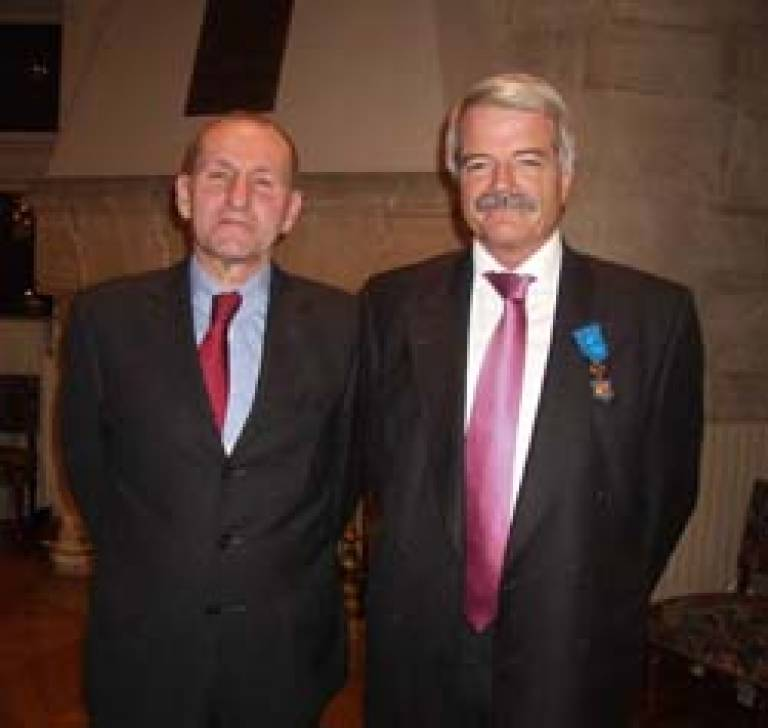 Professor Grant with Monsieur Canivet