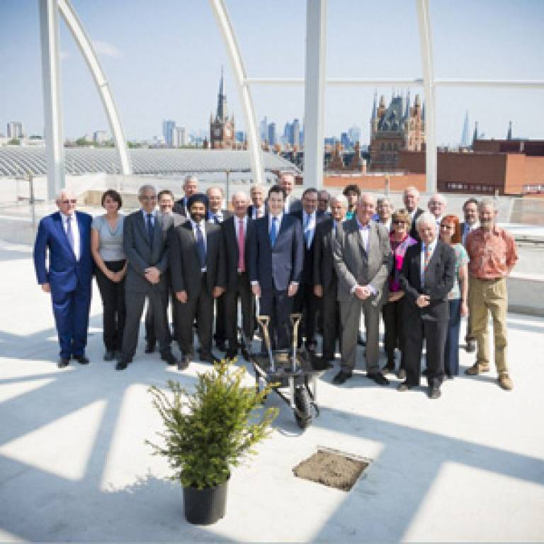 Crick topping out event