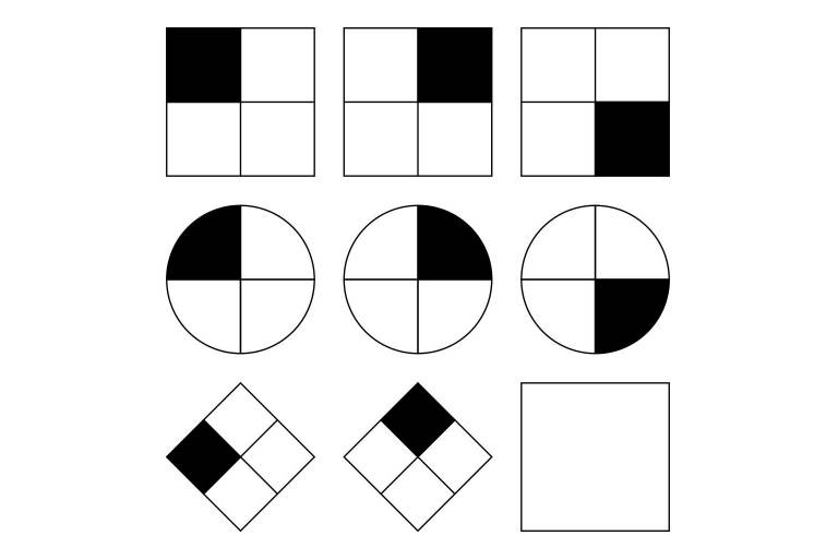 Example of a simple non-verbal reasoning task