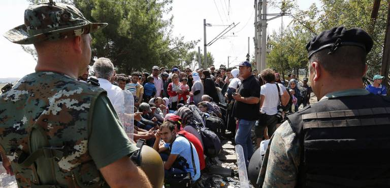 Refugees on the Macedonian border