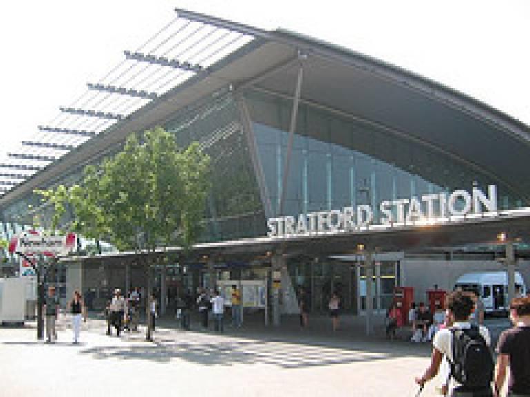 Stratford station in East London