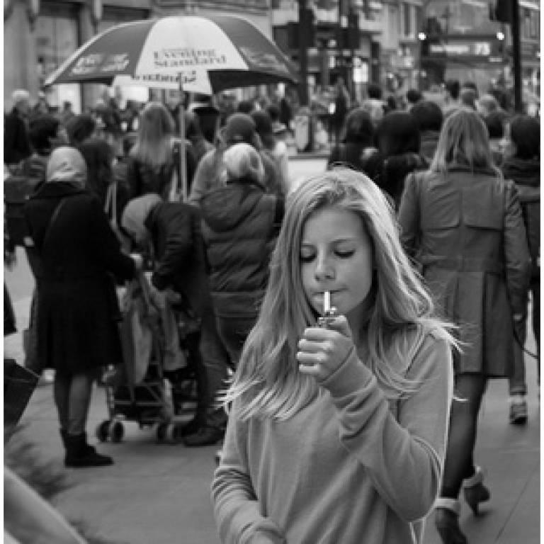 Teenage smoker by M Hooper on Flickr