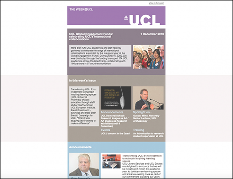 The Week@UCL