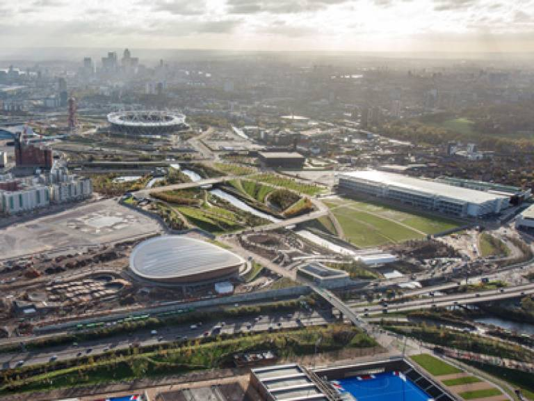 The Queen Elizabeth Olympic Park site in East London
