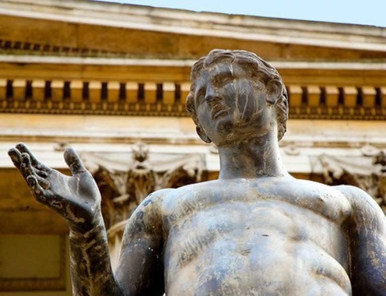 UCL Quad statue