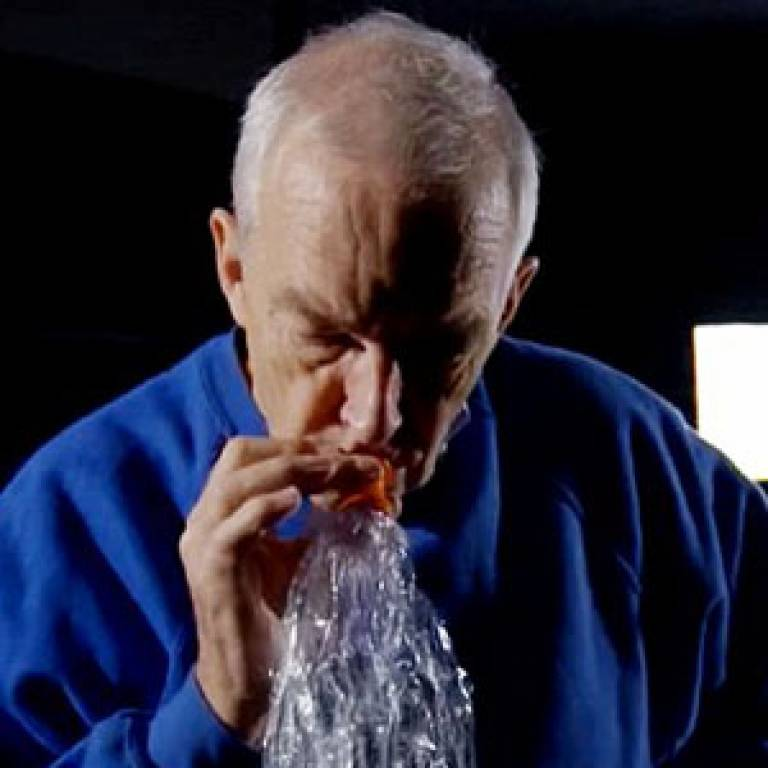 Channel 4 presenter Jon Snow inhaling cannabis