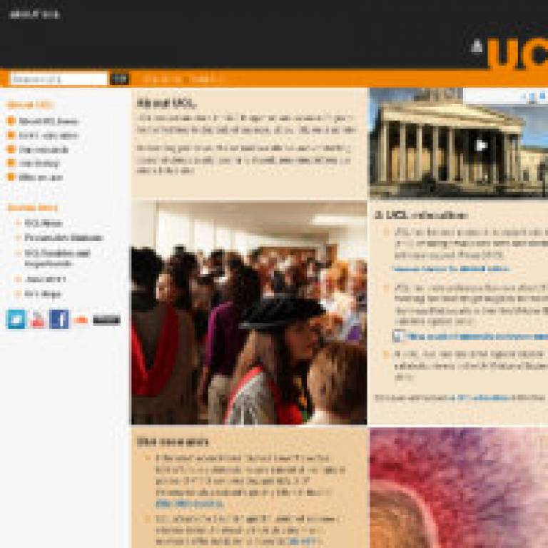 About UCL website revamp