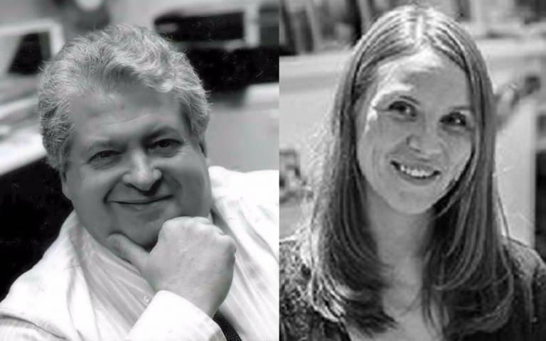 Professor David Price and Sarah Chaytor
