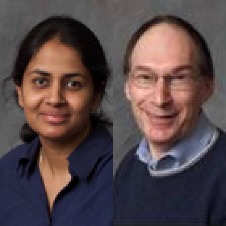 Dr Shanthi Muttukrishna and Dr Ray Noble