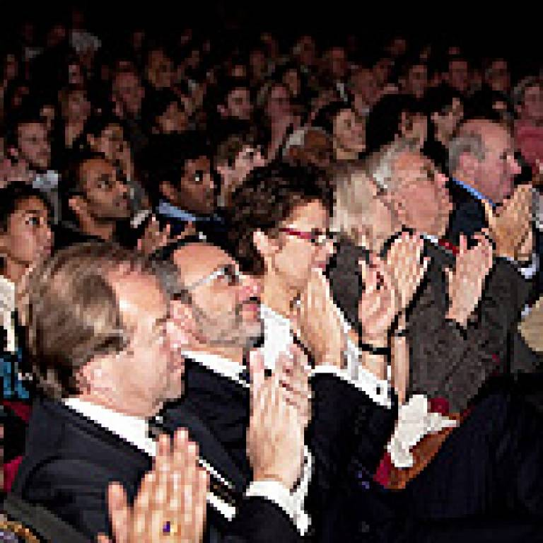 Audience at the honorary degrees' ceremony