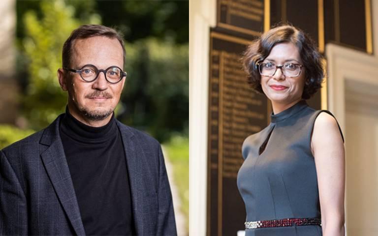 Professor Axel Korner and Professor Ayona Datta portrait photos