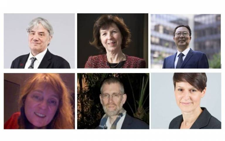 Composite of six images of the new UCL British Academy Fellows