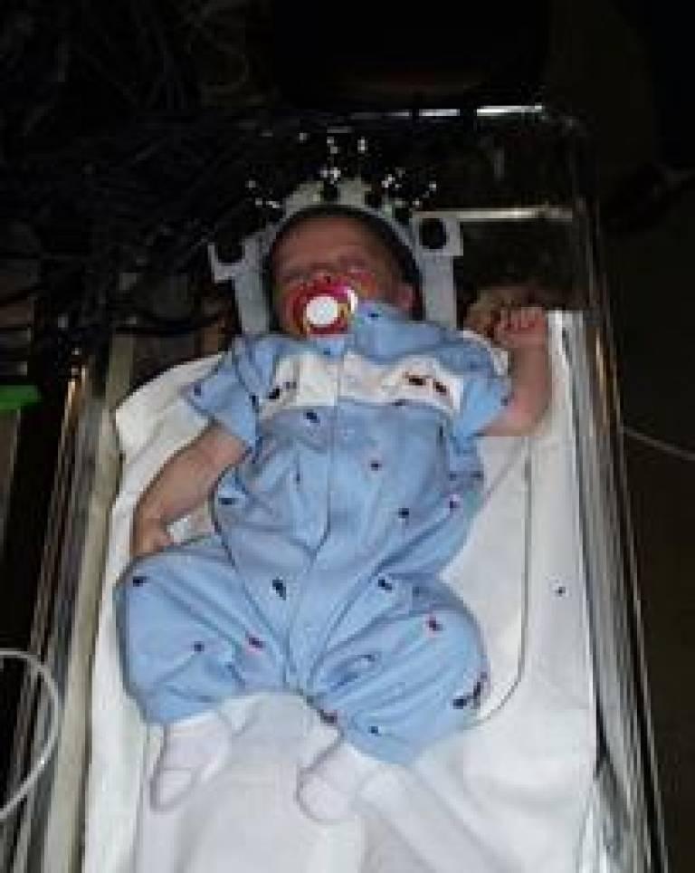real baby in MONSTIR