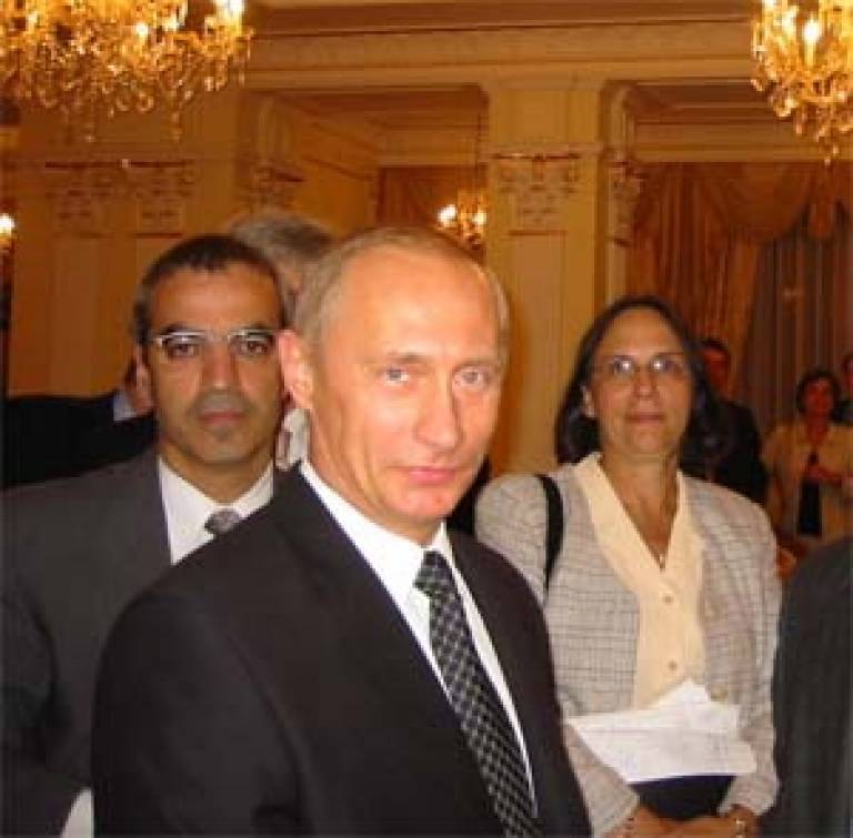 Dr Bassin with President Putin