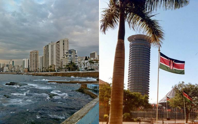 Beirut and Nairobi