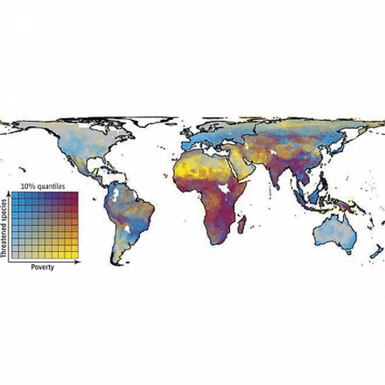 Biodiversity and poverty map