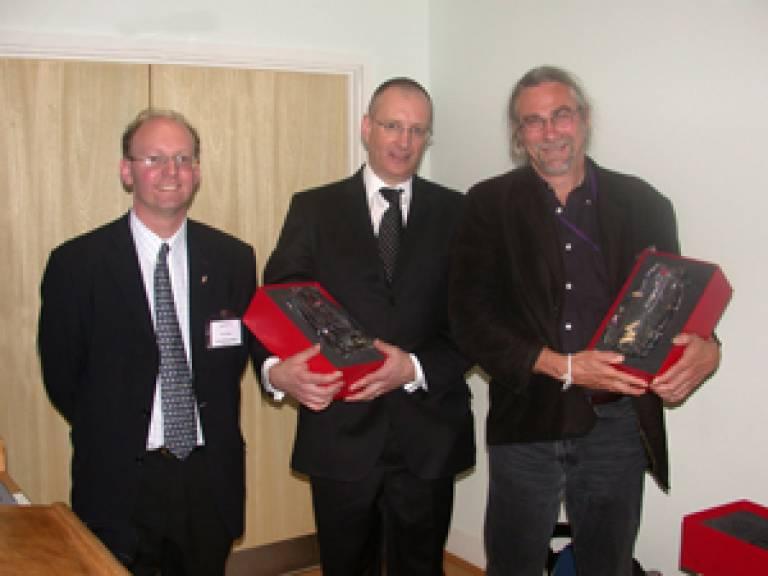 Dr Chris Mason receiving the London Biotechnology Award