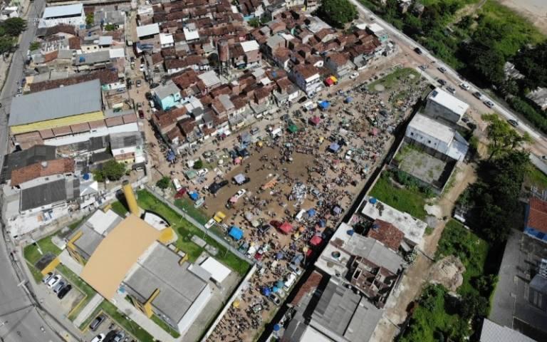 drone footage above Pernambuco