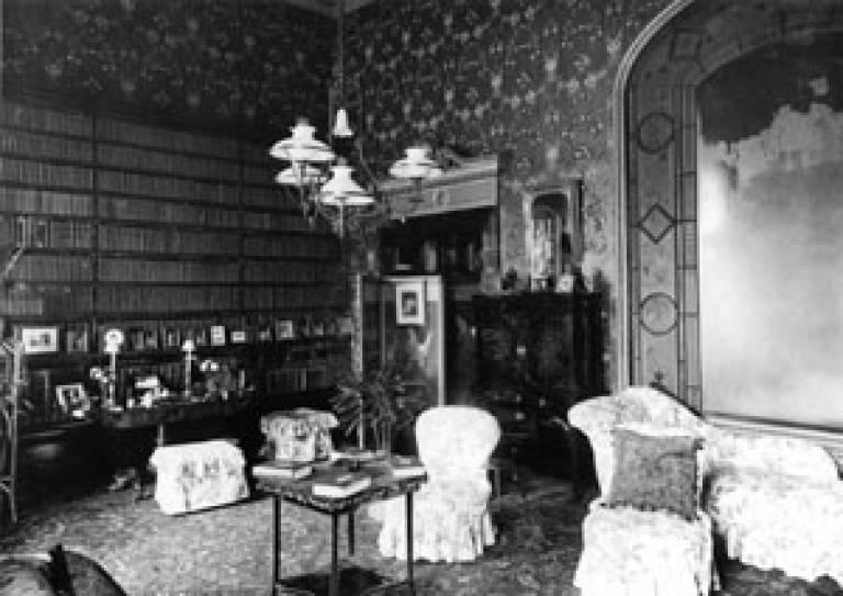 Brodsworth Hall Library, 1910 (English Heritage)