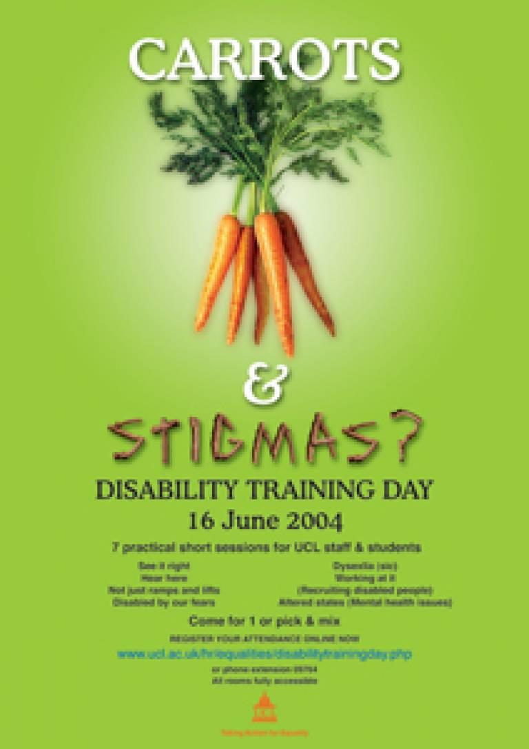 Disability Equality – Carrots & Stigmas?