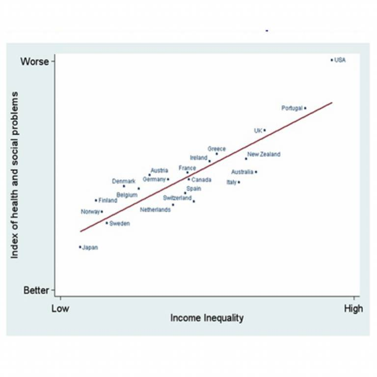 Health and social problems relative to income inequality