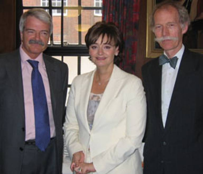 Professor Grant, Ms Cherie Booth and Georgetown's Professor Peter Tague