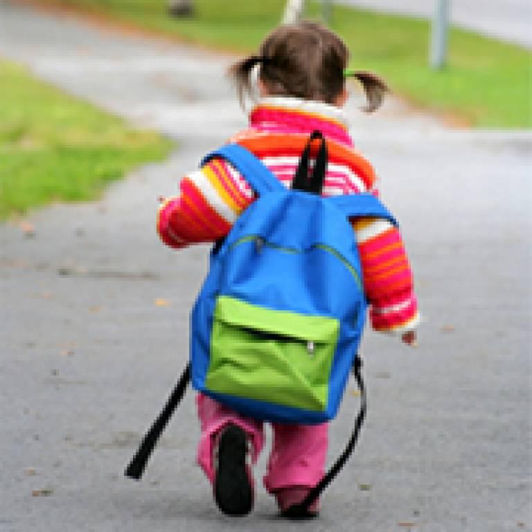 Child on way to nursery