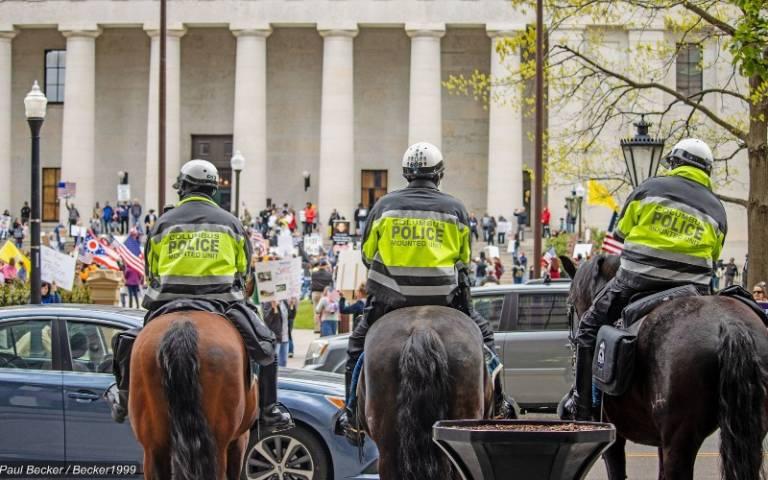 Lockdown protest in Ohio