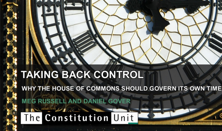 Taking back control report front cover