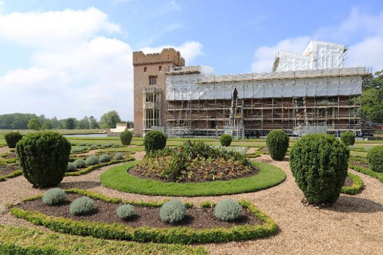 Roof restoration project at Oxburgh Hall National Trust