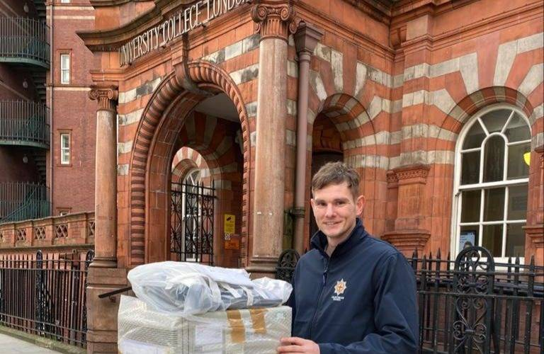 The Coldstream Guards take PCR machines to help Covid-19 testing