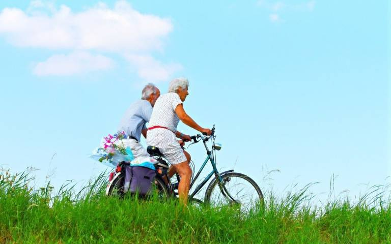 Older adults cycling