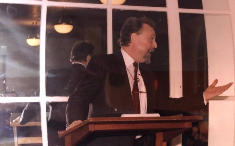 Former UCL Vice-Provost David Bowles at his retirement in 1996