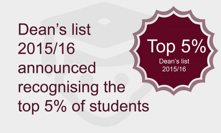 Dean's list 2015/16