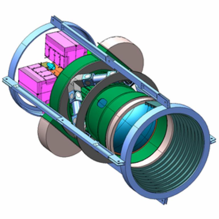 Illustration of the Dark Energy Survey camera