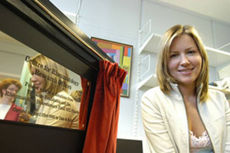 Dido opens the new research offices of UCL's Centre for Rheumatology