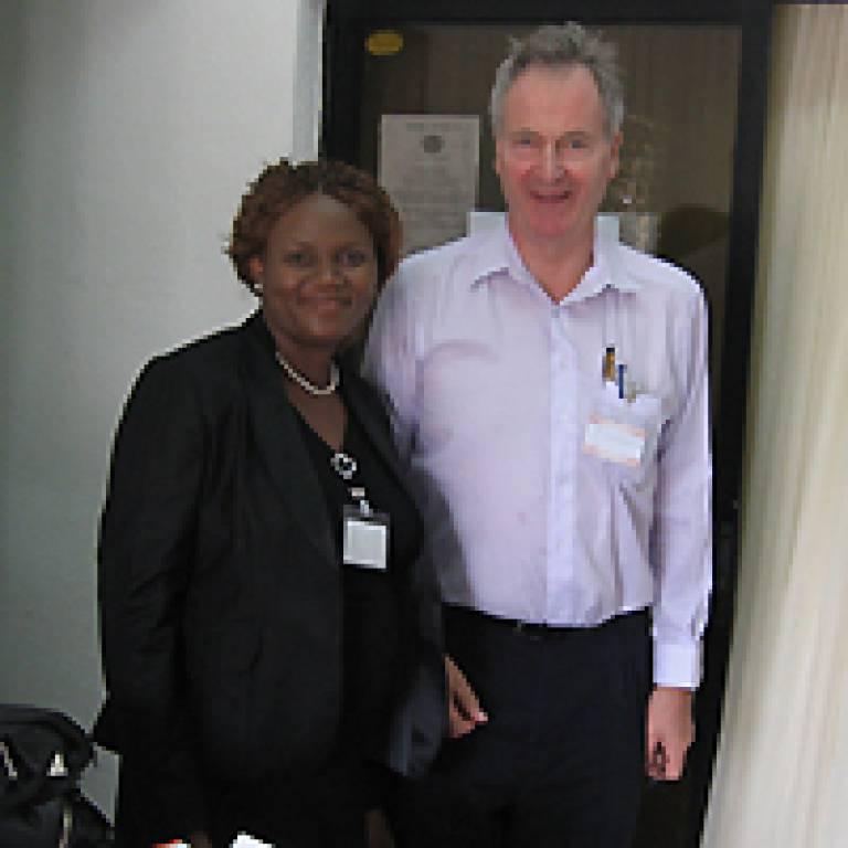Dr Derin Balogun and Professor Graham MacGregor