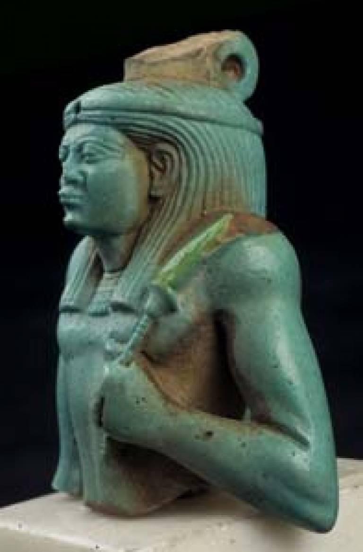 Blue Fiaence statue of a royal fan bearer